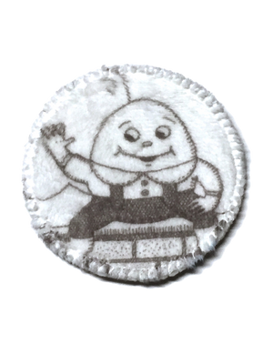 "3"" Cup Spot/Wipe in Humpty Dumpty Specialty Minky"