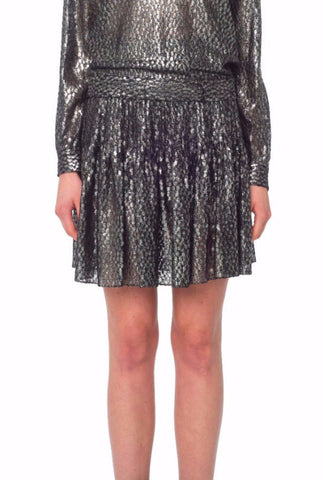 Silver Lace Classic Pleated Skirt
