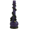 Purple Soft Glass Water Pipe with Black Flower Wrap