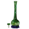 Back view of green water pipe