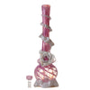 Front view of pink flower pipe