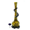 Yellow Soft Glass Water Pipe with Black Wrap