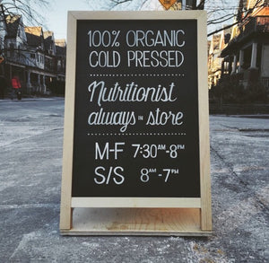 Village Juicery A-Frame