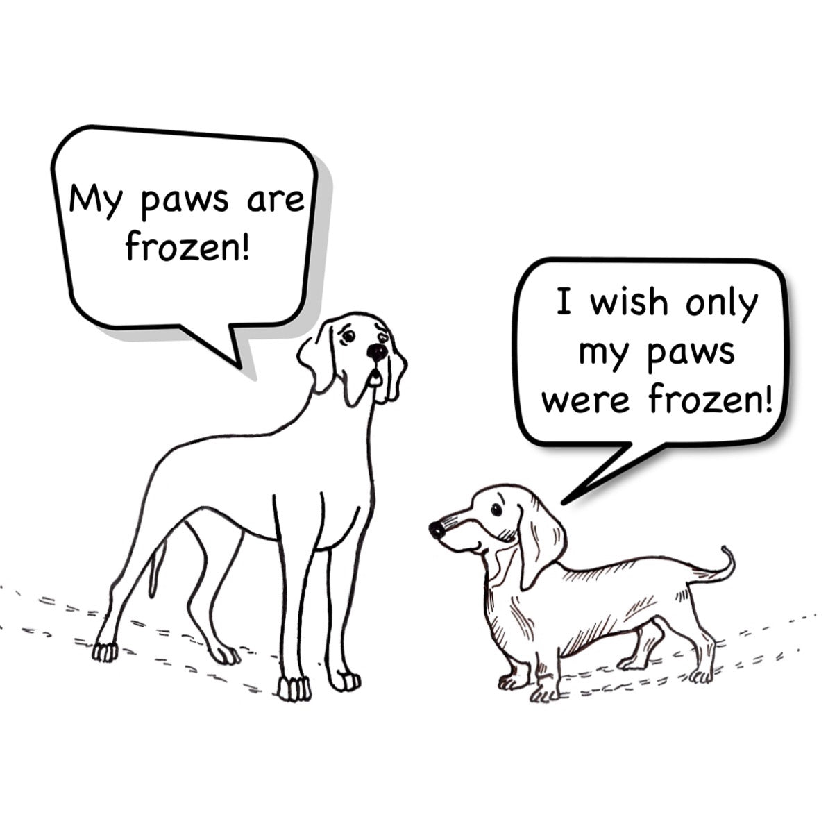 Freezy paws! - Merry Christmas Greeting Card