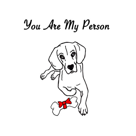 You Are My Person - Merry Christmas Greeting Card
