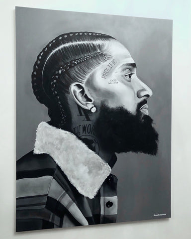 Nipsey Hussle Tribute Portrait