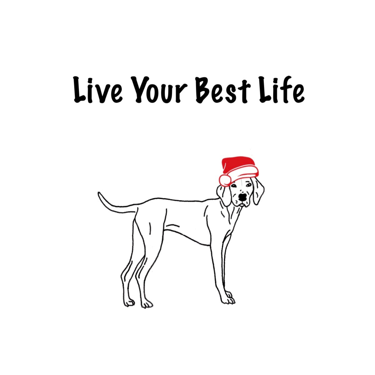 Live Your Best Life - Merry Christmas Greeting Card