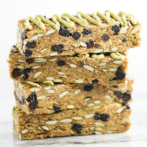 Blueberry Green Tea Granola Bars