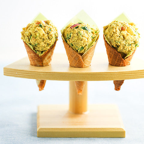 Curried Chicken Salad Cones