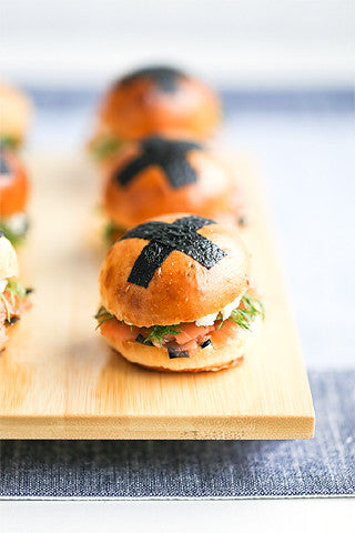 Nori Smoked Salmon Tea Sandwiches ! PHOTO