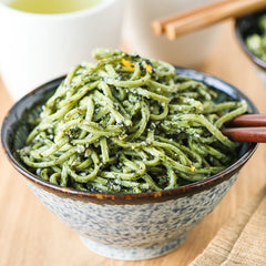 GREEN TEA SOBA with NORI PESTO