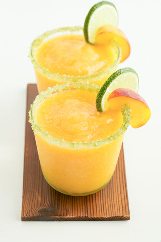 Peachy Green Tea Margaritas
