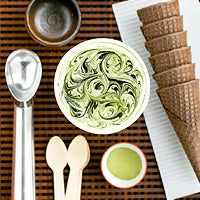 NO-CHURN GREEN TEA ICE CREAM