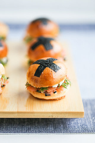 Nori Smoked Salmon Tea Sandwiches