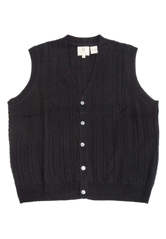Viyella - Merino Wool - Cable Knit V-Neck Sweater Vest - 255616