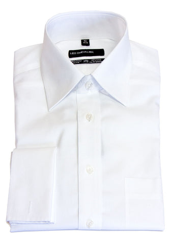 Leo Chevalier - Formal French Cuff Shirts - 225170-D-White