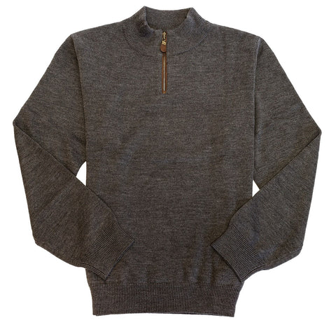 Viyella - Baruffa Merino Wool - 1/4 Zip Mock Neck Sweater - 255618-2