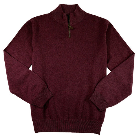 Viyella - Baruffa Merino Wool - 1/4 Zip Mock Neck Sweater - 255618-3