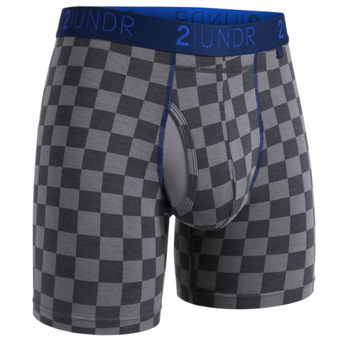 "2UNDR - 6"" Swing Shift Boxer Briefs - 2U01BB - Check Mate"