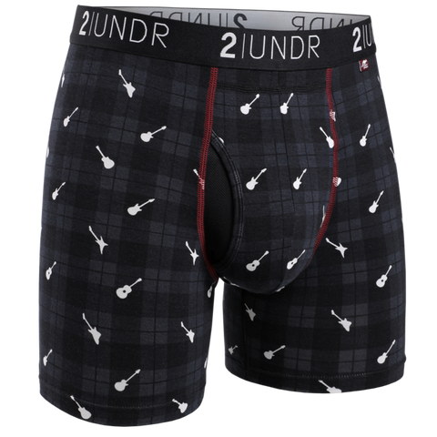 "2UNDR - 6"" Swing Shift Boxer Briefs - 2U01BB - Rockin' Plaid"