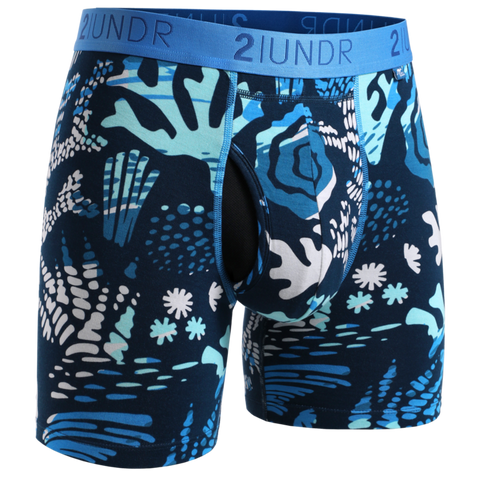 "2UNDR - 6"" Swing Shift Boxer Briefs - 2U01BB - Coral Reefer"
