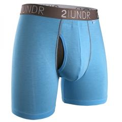 "2UNDR - 6"" Swing Shift Boxer Briefs - 2U01BB - Light Blue"