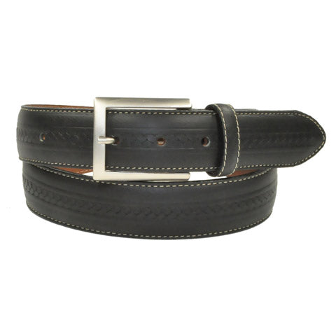Bench Craft - Braid Embossed Casual Belt - 35MM - 3544