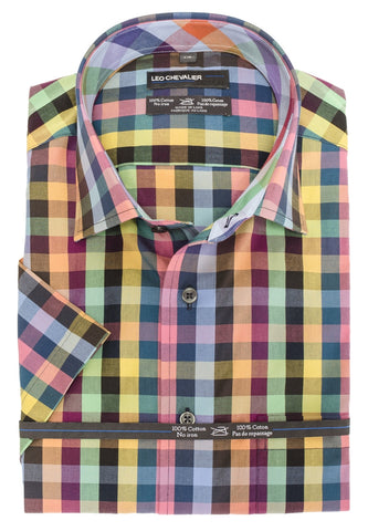 Leo Chevalier - Short Sleeve Shirt - Big and Tall - 426389/QT