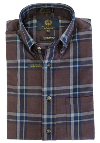 Viyella - Wool/Cotton - Long Sleeve Shirt - 455446