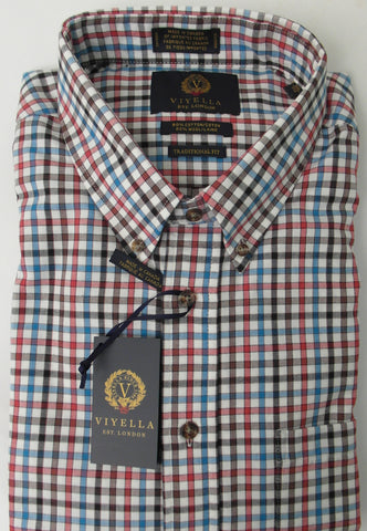 Viyella - Wool/Cotton - Long Sleeve Shirt - 457437 Clearance