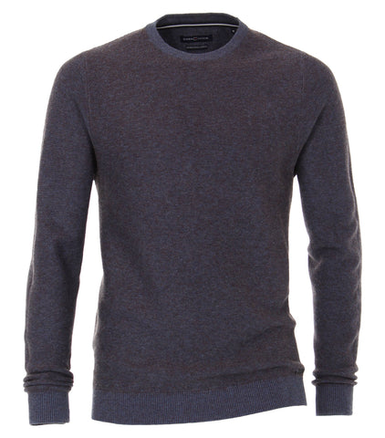 Casa Moda - Crew Neck Sweater - Wool/ Cotton - 493244300 - Clearance