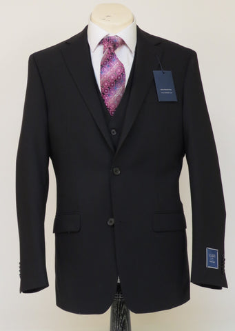S. Cohen - Smart Suit - 4J00S8 - U Classic Fit - Black - 100% Wool