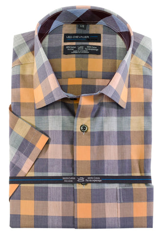 Leo Chevalier - Short Sleeve Shirt - Big and Tall - 520362/QT