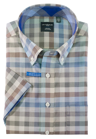 Leo Chevalier - Short Sleeve Shirt - Big and Tall - 520393/QT