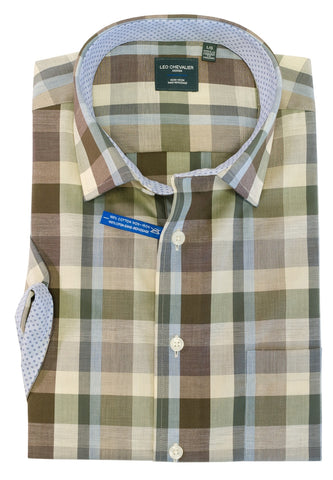 Leo Chevalier - Short Sleeve Shirt - Big and Tall - Non Iron - 522392/QT