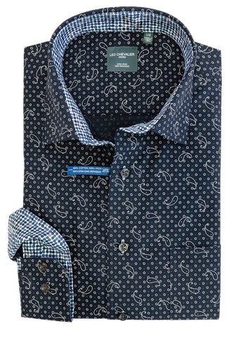 Leo Chevalier - Long Sleeve Shirt - Big and Tall - 525478/QT