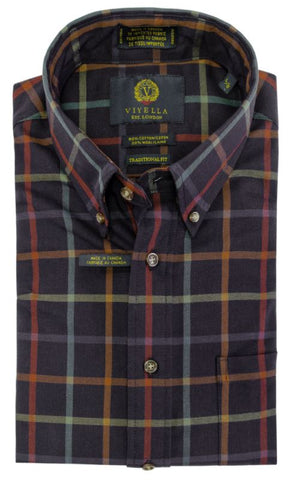 Viyella - Cotton Wool - Long Sleeve Shirt - Classic Fit - 555427- MADE IN CANADA