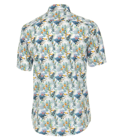 Casa Moda - Short Sleeve Cotton Shirt - Modern Casual Fit