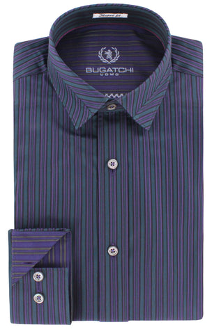 Bugatchi - Long Sleeve Shirt - AS4025G9S - BrownsMenswear.com