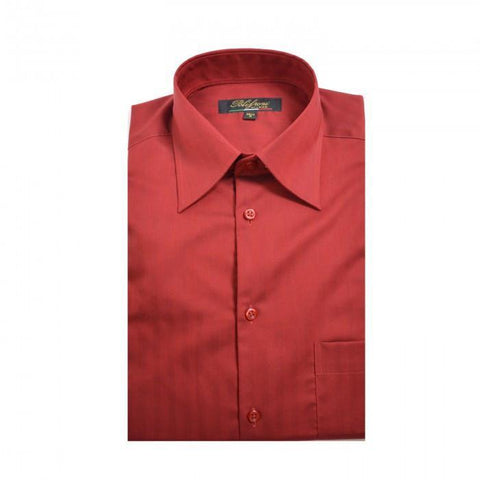 Polifroni - Non Iron - High Quality 100% Cotton Dress Shirt - Classic Fit - GC-360-49 - Maroon