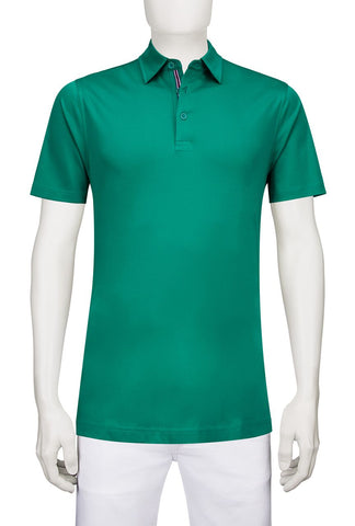 Solid Colour Green Polo Golf Shirt Bugatchi JCF2599F53-1