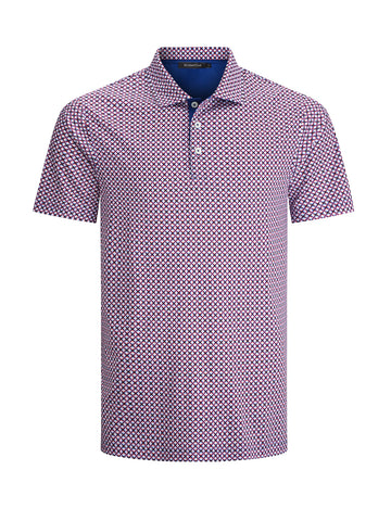 Fancy Neat Coral Print Golf Shirt Polo Shirt Bugtachi
