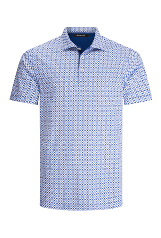 Classic Light Blue Polo Shirt Bugatchi Golf Shirt