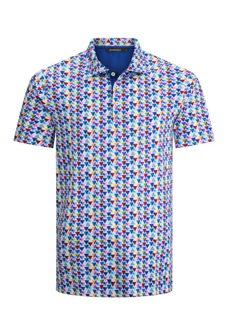 Neat Print Golf Shirt by Bugatchi Polo Shirt