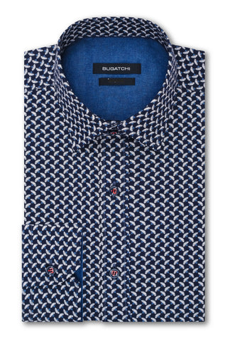 BUGATCHI - Long Sleeve Shirt - Classic Fit - MS3105R1 - Clearance