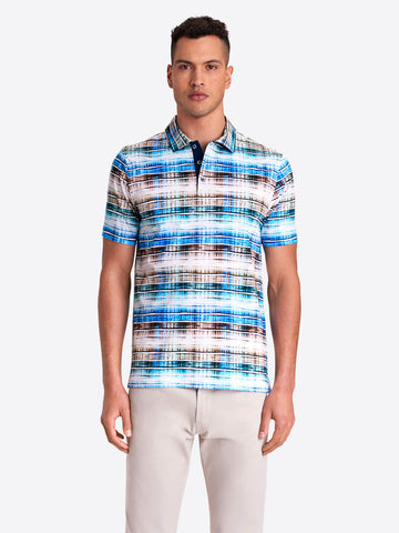 Bugatchi - Abstract Stripe Printed  - Mercerized Cotton - Polo Shirt - Modern Fit - RF4526F21
