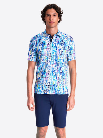 Bugatchi - Abstract Print Polo Shirt -  Mercerized Cotton - Modern Fit - RF4542F21