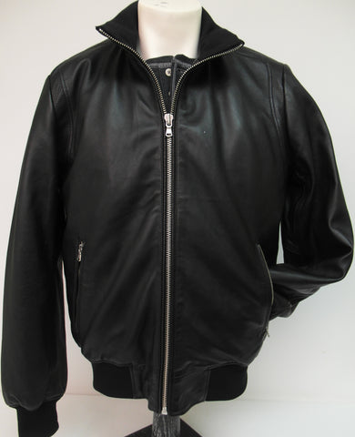 Regency - Stand-up Collar Leather Jacket - JIM