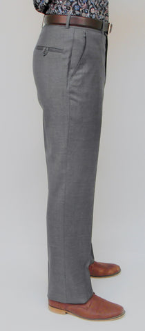 Gala - T1 - Wool Dress Pant - Flat Front and Single Pleat Front - BrownsMenswear.com - 3
