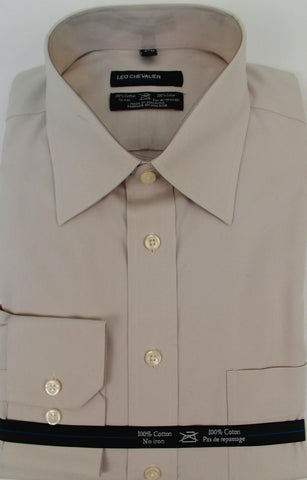 Leo Chevalier - Dress Shirts - 225170-Ivory-21 Clearance